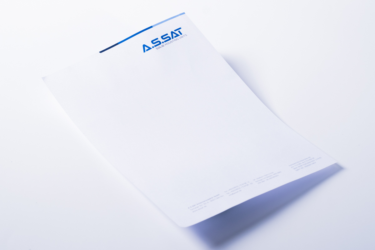 Corporate Design Briefpapier