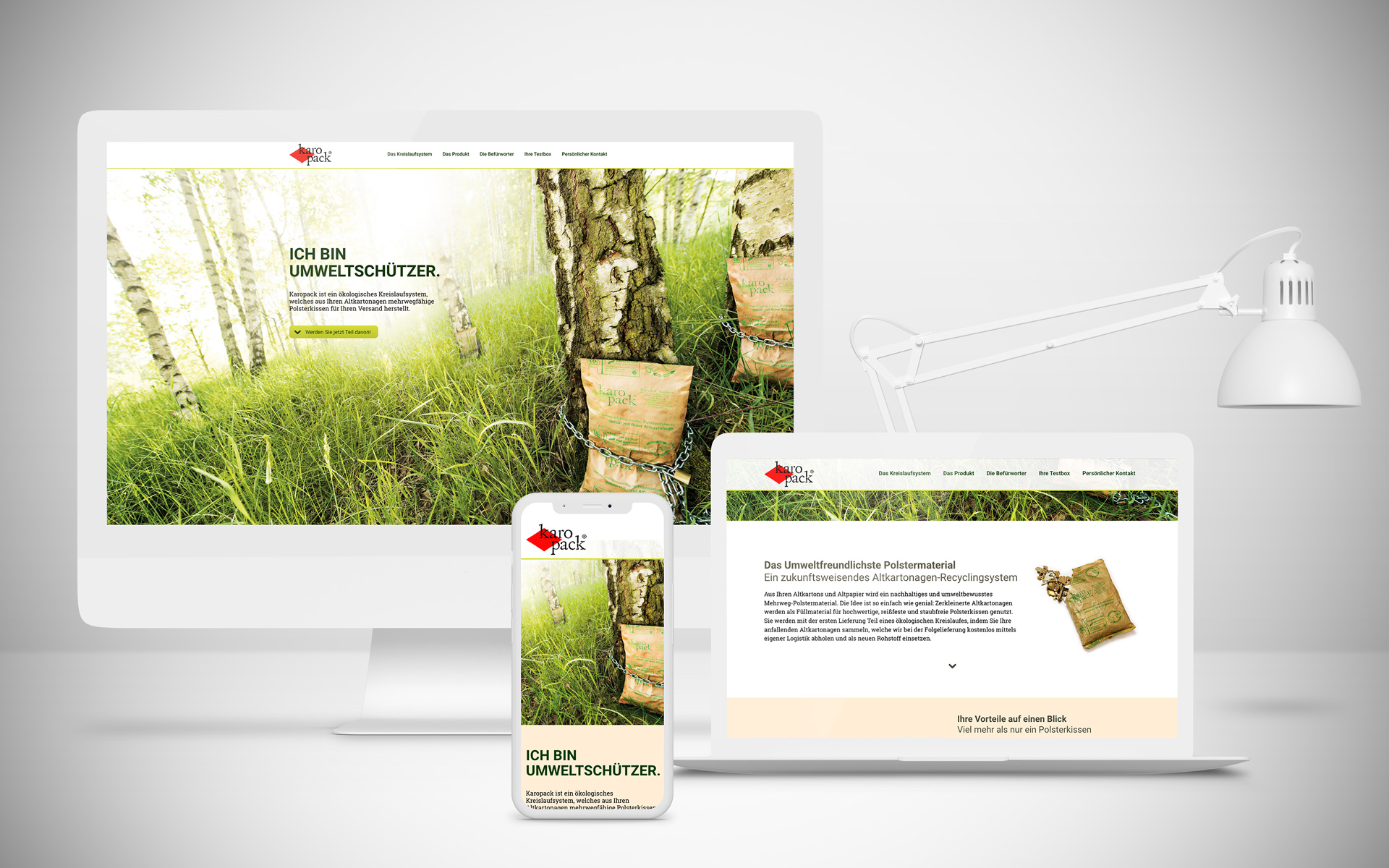 Responsive Webdesign Onepager