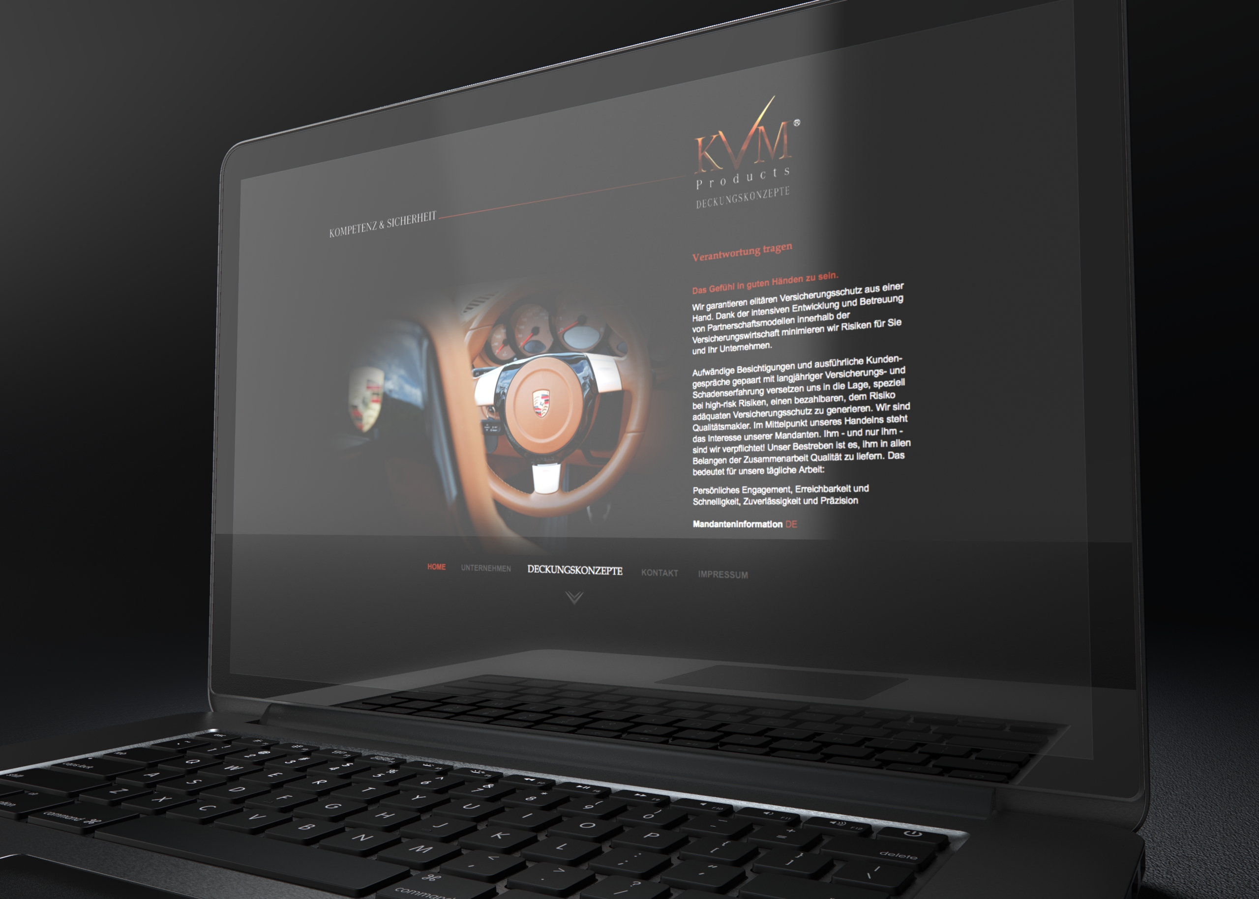 Screendesign Website
