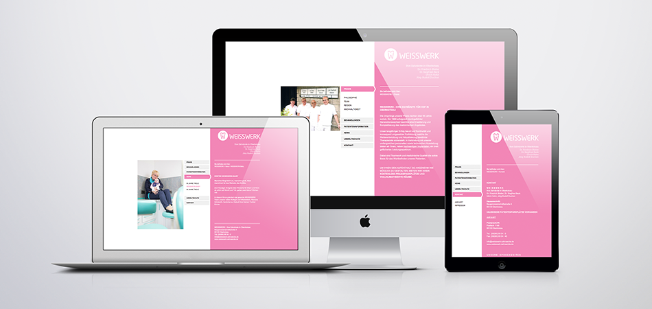 Weisswerk - Responsive Webdesign Website